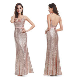 Ever Pretty Womens Gold Long Evening Dress Fishtail Party Cocktail Dresses Gowns $25.19