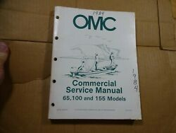 1984 OMC Commercial Service Repair Manual 65 100 155 HP outboard 507450 D