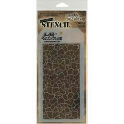 Tim Holtz Layered Stencil 4.125X8.5 Crackle 748252602657 $6.95