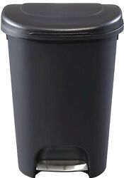 13 Gallon Trash Can 52 Quart Pedal Liner Lock Tall Kitchen Waste Lid Hands Free $29.21