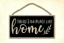 pub cafe home plaques theres no place like home welcome typography wood sign $15.99