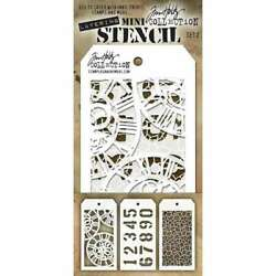Tim Holtz Mini Layered Stencil Set 3Pkg Set #2 653341059116 $10.05