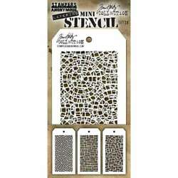 Tim Holtz Mini Layered Stencil Set 3Pkg Set #28 653341839213 $10.05