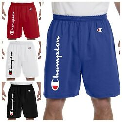 Champion Shorts Scripted 6 Colors S 2XL 6quot; Inseam 100% Cotton $24.99