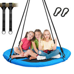40quot; Tree Swing Round Saucer Swing Set Indoor Outdoor 700lbs for Kids and Adults $78.88