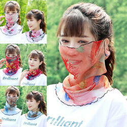 Fashion Women Face Cover Thin Mesh Half Hanging Ear Scarf Breathable Sun proof $2.09