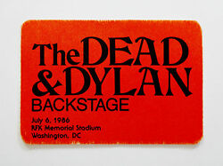 Grateful Dead Backstage Pass Bob Dylan & The Dead Tom Petty RFK 7686 761986