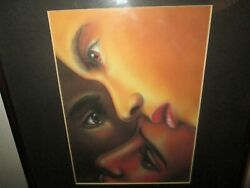 Art by Larry Poncho Brown Black is Black Females Matted Quality Custom Framed $75.00