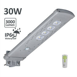 30W Max3000LM Commercial Solar Street Light Outdoor IP65