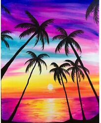 5D Diamond Painting Embroidery Cross Craft Stitch DIY Kit Mural Colorful Trees $9.98