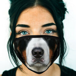 Bernese Mountain Dog FACE MASK Dog Breed Face Covering Reusable Made In USA $12.95