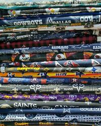 NFL Football Cotton Fabric By The 14 18 of a yard Pick your team 100% COTTON  $4.99
