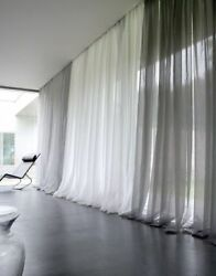 Solid White Sheer Window Curtain Voil In ALL Sizes NEW ARRIVAL SALE $4.68