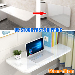 US Wall Mount Floating Foldable Computer Desk  Office Notebook Table 60cm*40cm $79.99