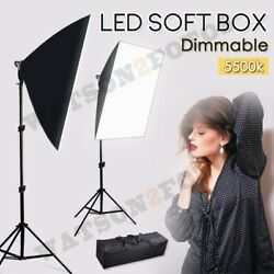 2x135W Soft Box Light Photography Studio Continuous Softbox Lighting Stand Kit $47.99