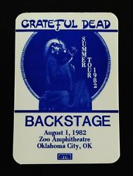 Grateful Dead Backstage Pass Jerry Garcia 40th Birthday Oklahoma 8182 811982