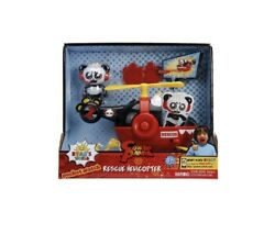 Jada Toys Ryan#x27;s World Helicopter with Combo Panda Figure 6quot; Feature Vehicle Red $16.00