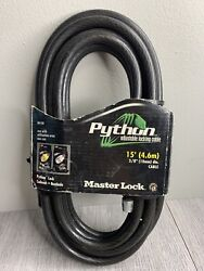 Master Lock 15' Python Vinyl Coated Adjustable Locking Cable Padlock 15 FEET $37.99