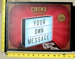 Cinema Light Box backlit by LED wletters numbers & characters tablewall mount $14.95