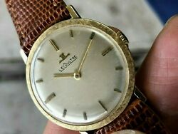 1960's Jaeger LeCoultre 14K Solid Gold Clean Dial Manual Wind Fully Working Nice $540.00