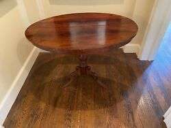 Original Antique Biedermeier Oval Center Table. 46quot;W X 31.5quot;D X 31quot;H  $875.00