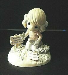 Precious Moments Figurine: Sow Much To Do Garden Till Your Heart#x27;s Content. $13.00