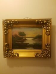 Antique Oil Painting Signed Klein $220.00