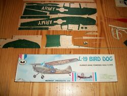 Vintage L 19 BIRD DOG Midwest Products Co Plane Balsa Kit 405 10 2 $115.00