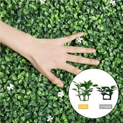 20quot;x20#x27;#x27; Greenery Artificial Boxwood Hedge Panels Topiary with White Flowers $45.99