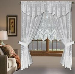Shabby Chic Floral Lace Window Curtain Panels Balloon Curtains Separate Valances $22.90
