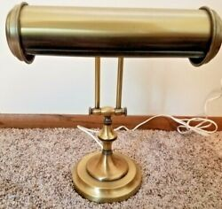 Vintage Brass Bankers Piano Desk Lamp Light Adjustable Working $15.00