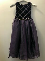 Formal purple dress size 8 girls $10.00