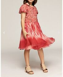 TADASHI SHOJI PARADISE BREEZE GIRLS DRESS Color Red Size 2 Years