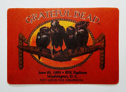 Grateful Dead Backstage Pass RFK Washington DC 62595 6251995 Black Crows