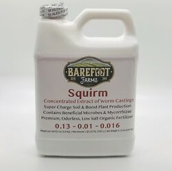 Barefoot Farms Squirm Organic Worm Castings Extract Organic Soil Conditioner $19.99