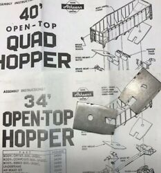 Athearn HO Parts for 34#x27; Open Top amp; 40#x27; Quad Hoppers Steel Weights Part #90701 $6.37