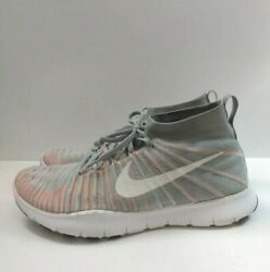 Nike Grey Orange Free Train Force Flyknit Size 13 Men Style 833275 003