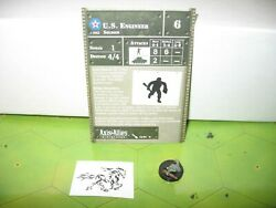 Axis & Allies Eastern Front U.S. Engineer with card 13/60 $5.00
