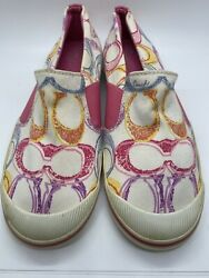 Coach Kaycee Slip on Sneakers Colorful Size 8.5 A3 $10.99