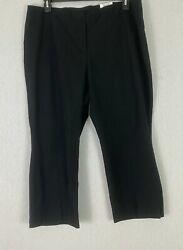 Alfani Women#x27;s Black Plus Wear to Work Comfort Waist Dress Pants Stretch $69 NWT $17.99