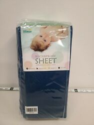 BILOBAN 100% Cotton Baby Waterproof Infant Crib Sheet Navy Blue $9.75