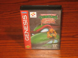TMNT Tournament Fighters Sega Genesis CaseBox Cover Art Only NO GAME CARTRIDGE $9.99
