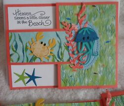 Stampin' Up! Card Kit ADORABLE Buckle Sea Life Ocean Beach Whale of a Time Crab $11.99
