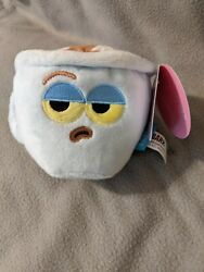 NWT New Barkbox French Unimpressed Coffee Squeaker Crinkle Toy Small Bark Box $24.99