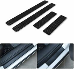 for BMW Car Door Sill Carbon Fiber Scuff CoverEntry Stickers Black3 color 4pc $11.60