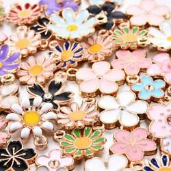 40Pcs Set Enamel Alloy Daisy Flower Charms Pendant Jewelry Findings DIY Craft US $3.41