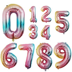 32 inch Crown Number Foil Balloon Digit Ballon Birthday Anniversary Party Decor $1.98