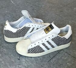Adidas Vintage Shell Toe with Checkerboard Woven Leather Uppers RARE $99.99