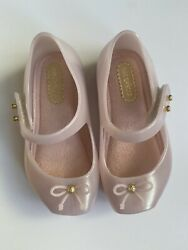 Mini Melissa Mini Ballet Flat Pink Square Toe NWOB Size 6 MSRP $55 SOLD OUT $38.00