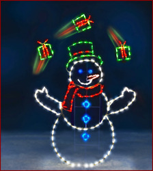 5 #x27; ANIMOTION JUGGLING Gifts Snowman LED Commercial Quality Christmas Yard Show
